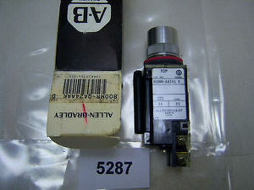 (5287) Allen Bradley Push Button 800MR-QA24AAK 24V Amber