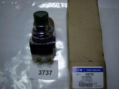 (3737) Cutler Hammer Pushbutton Green Momentary 10250T76G