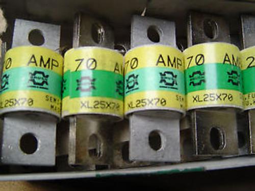 (10) 70amp  Brush Rectifier Fuses XL25X70