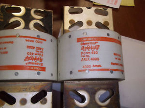 Gould Shawmut 4000 Amp Fuse Set Of 3