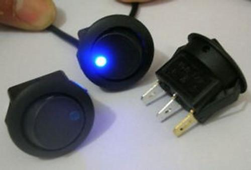 100, Blue LED Lighted DC 12v CAR Rocker Switch, D8CB