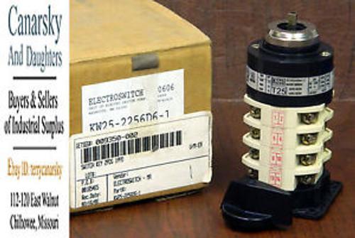 1 NEW ELECTROSWITCH KW-25-2254D6-2 2 POSITION ROTARY KEY SWITCH NIB