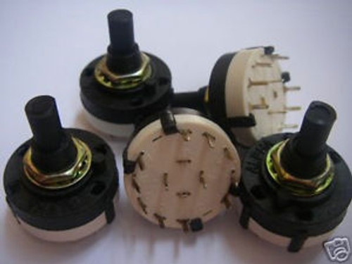 100,2 Pole 5 Position PANEL PCB 5WAY ROTARY SWITCH 2P5T
