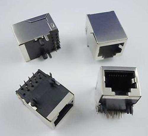 1000 Pcs Rj45 Metal 8 Pin Right Angle Board Jack Connector
