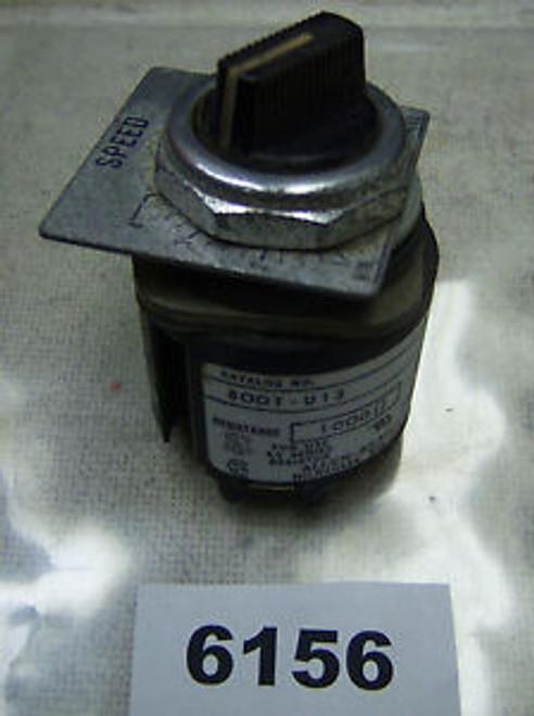 (6156) Allen Bradley Potentiometer 800H-U13 30.5mm 1000 PHM 300 VAC Max