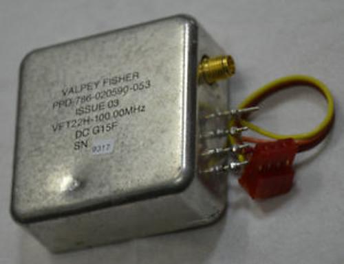 100.MHz OCXO VFT22H-100.00MHZ VALPEY FISHER PPD-786-0205960-053 ISSUE 03 VDC+12V