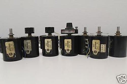(7) Borg Micropot Precision Potentiometer Pot Model 2201 B  20K Ohms