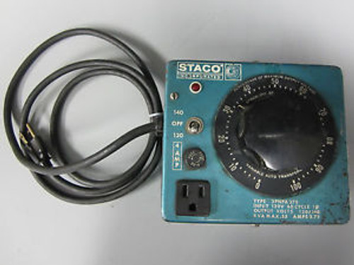 Staco Variable Auto Transformer 3PNPA 375 93D