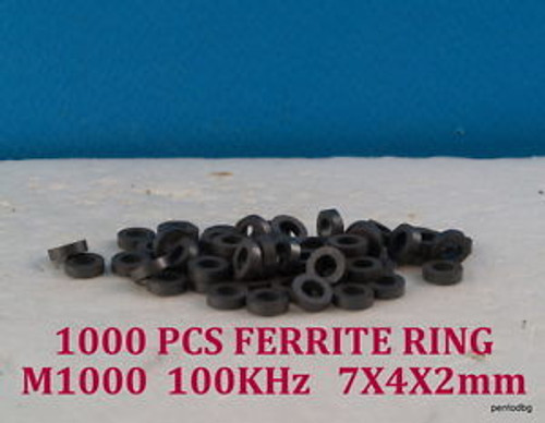 1000 PCS FERRITE RING M1000NN-3K 7X4X2mm  100KHz  ORIGINAL SOVIET MADE  RARE