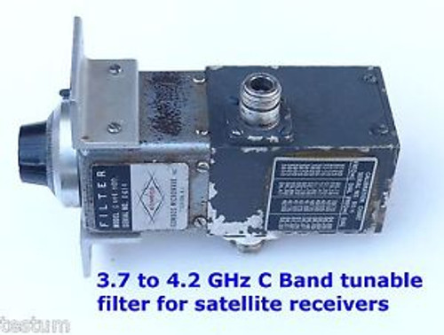 C Band microwave tunable filter 3.7-4.2 GHz. Tested and guaranteed.