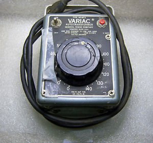 (10224) General Radio Variac Autotransformer W5 MT3