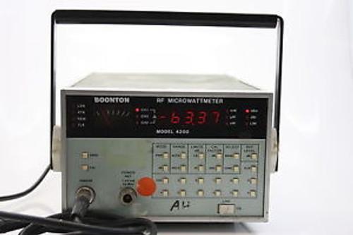 BOONTON 4200 Microwave RF Microwatt Power Meter 100KHz-18GHz  +Sensor  WORKING