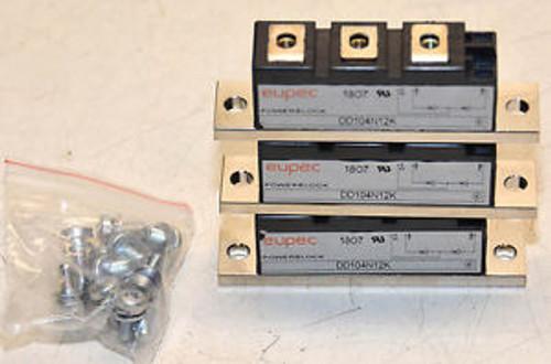(3) EUPEC DD104N12K Modules with hardware