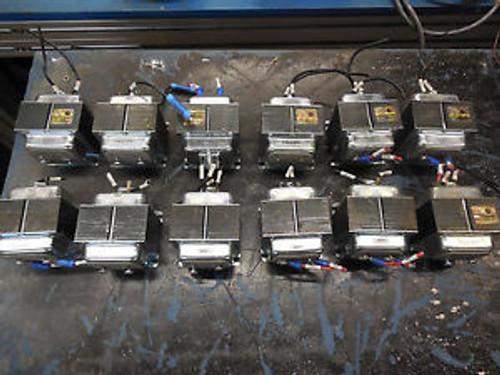 (12) Edwards 599Y Transformer, Single Phase, 240V-24V, 40 VA, 50/60 Hz