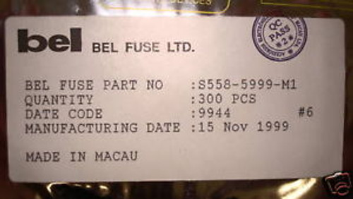 S558-5999-M1 Belfuse Qty 300 Per Fact Reel S5585999M1 Rare Parts