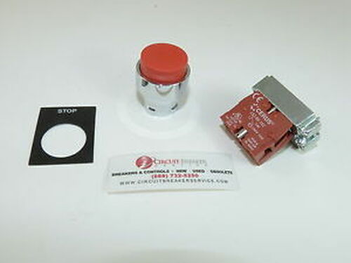 ( 5) New Cerus CB2BL4 Stop Pushbutton 1 NC Contact 1-yr Warranty
