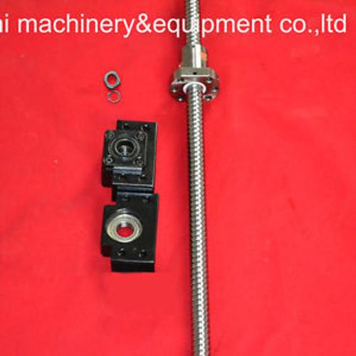 1 anti backlash ballscrew ball screw 2505-930mm-C7+1set BK/BF15 end support.
