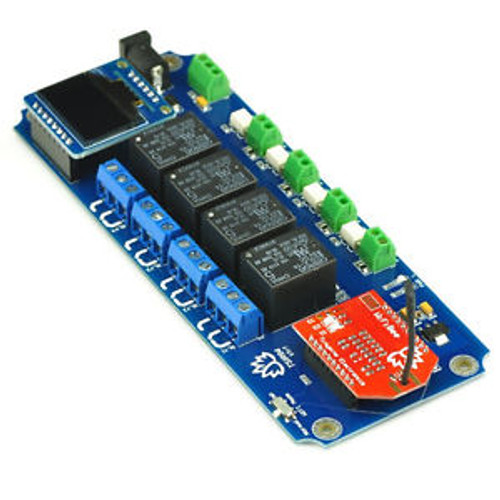 TSIR04 DC 12V 4 Channel Output Isolated Input OLED WiFi Smartphone/Android Relay