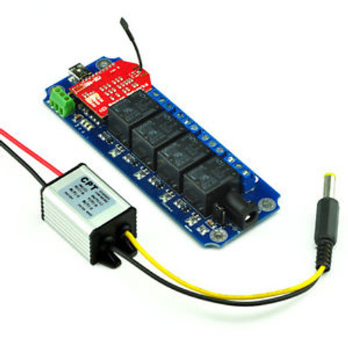 IOS/Android Smartphone control 4 Channel Wireless Relay Kit for Cars (WIFI AP)