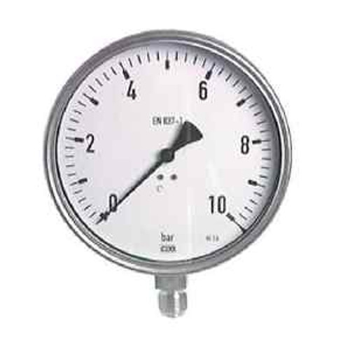 160 Mm Stainless Steel Manometer 0/6 Bar Chemistry Applications