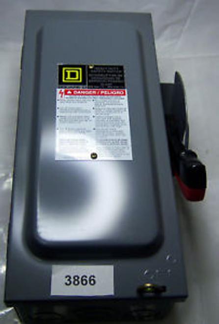 (3866)B Square D Heavy Duty Safety Switch HU361 600V 30A