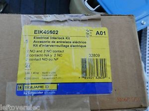 0ne (1)  SQUARE D EIK40602  ELECTRICAL INTERLOCK KIT NIB