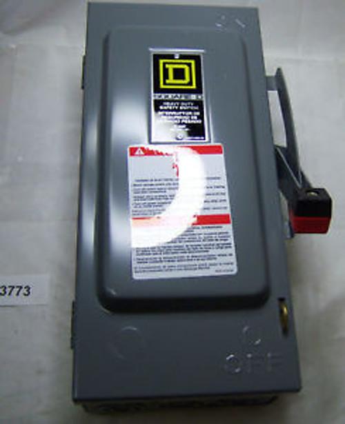 (3773) Square D Heavy Duty Safety Switch H361 600V 30A
