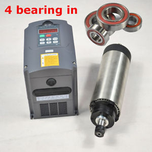 1.5KW AIR-COOLE SPINDLE MOTOR CNC MILL ENGRAVING ER16&1.5kw INVERTER DRIVE VFD
