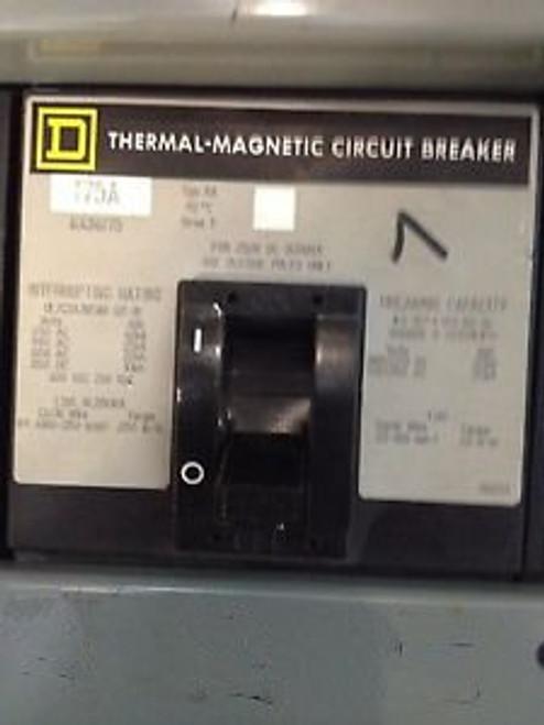 175 AMP Square D 3 Phase Circuit Breaker Cat No. KA36175
