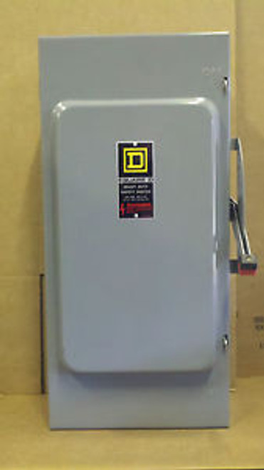 NEW SQUARE D 200 AMP 600 Volt HU364 Disconnect Switch 3 phase service rated