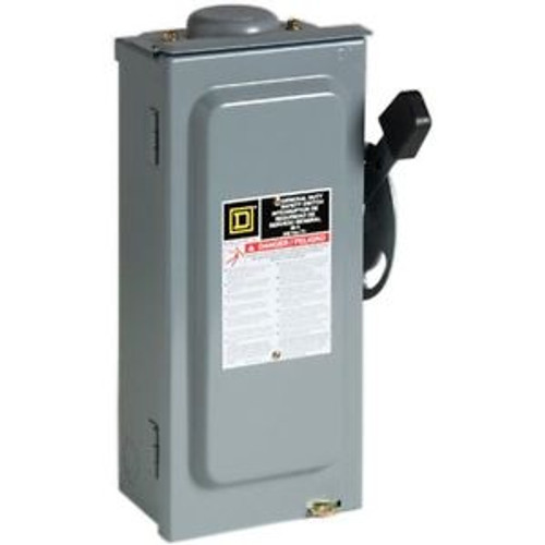 Square D by Schneider Electric D322NRB 60-Amp 240-Volt Three-Pole Outdoor Genera