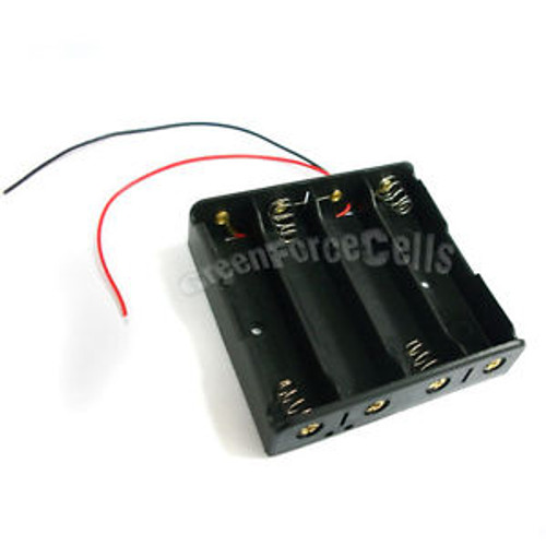 100  Battery Holder Case box for 4 18650 17650 Li-ion battery w/ 6 Wire Lead