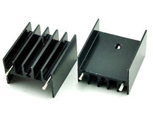 400pcs252316MM 25x23x16mm TO-220 triode Aluminum Heatsink IC Radiator XYZ 03
