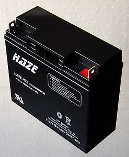 HAZE HZS12-18 Valve Regulated Lead Acid Battery (12 Volt 18 Ah) HZS 5 Year Range