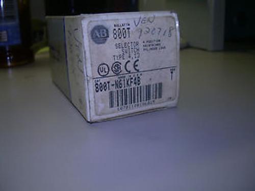 800T-N61KF4B Keyed Selector Switch Allen-Bradley