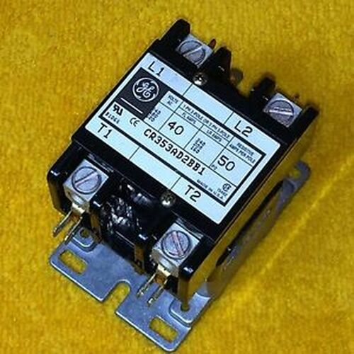 NEW GE CR353AD2BB1 40 AMP 2-POLE DEFINITE PURPOSE CONTACTOR 208/240 V COIL