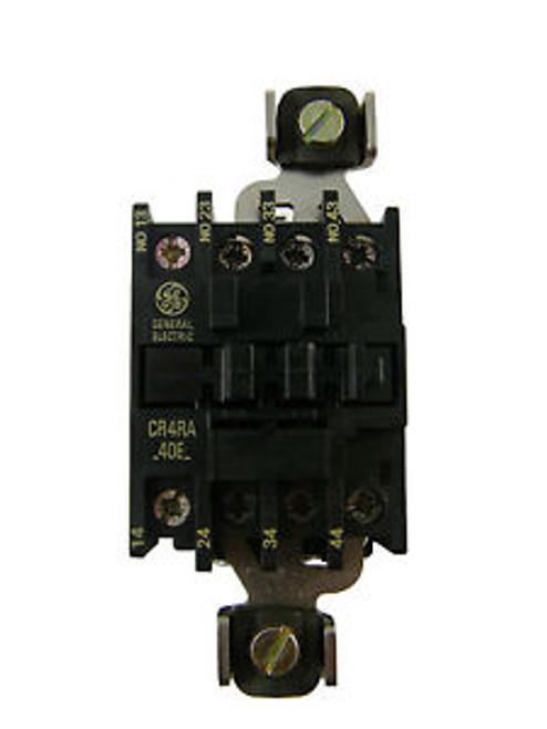 NEW GE 3P CONTACTOR CR4RA40EA-X 3NO WITH JUMPER 60A 1NO AUXIALARY 20A AC COILS