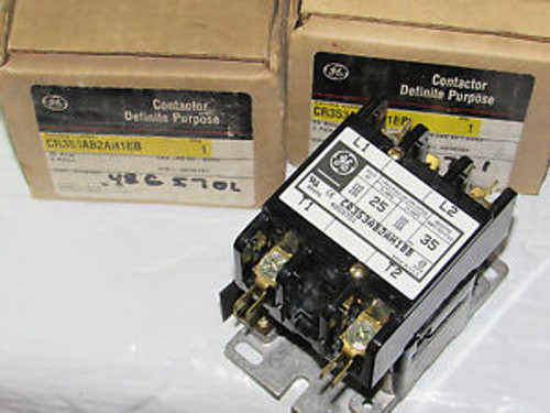 GE CR353AB2AH1BB 24V-COIL1PH FLA25 RES35 2POLE DEFINITE PURPOSE CONTACTOR