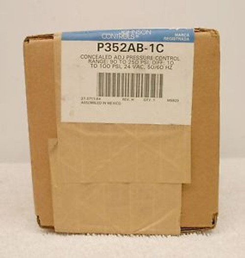 Johnson Controls P352AB-1C Adjustable Pressure Control NEW SEALED