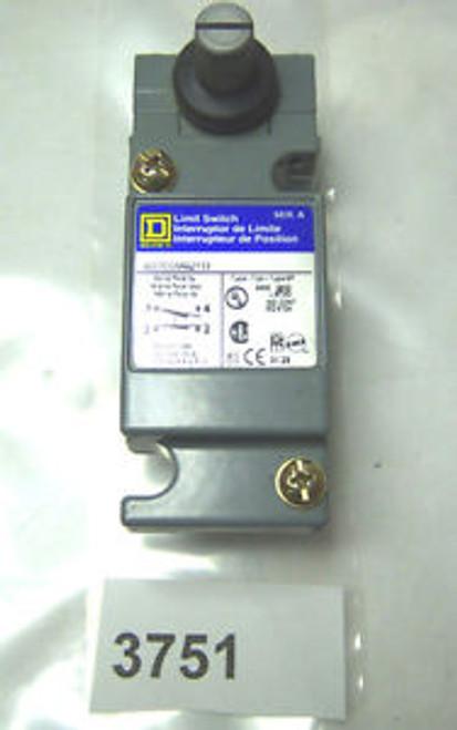 (3751) Square D Limit Switch 9007-CO154A2Y33 10 Amp 600V
