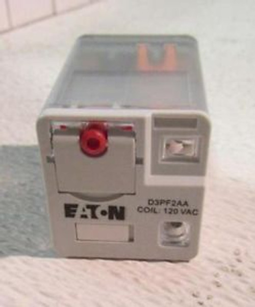 (12) Eaton D3PF2AA 12A DPDT OCTAL Relay 120VAC Coil 1.7 kohm Coil Res
