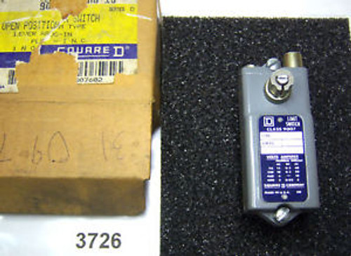 (3726) Square D limit Switch 9007-AO16 600 VAC Plug-in