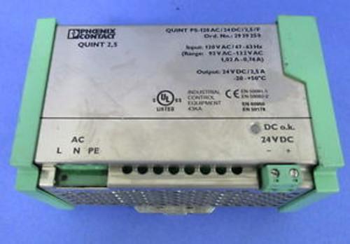PHOENIX CONTACT QUINT 2.5 PS-120AC/24DC/2.5 POWER SUPPLY