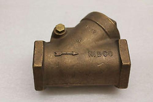 Newco 1-1/2 threaded Y type swing check valve new surplus