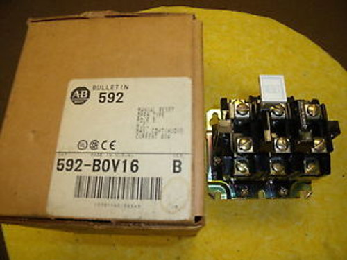 #592 Allen Bradley Overload Relay in Box 3 Pole Bulletin 592  Ser B