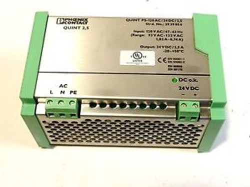 Phoenix Contact  78-104-4300 Power Supply Quint 10 PS-120AC/24DC/10
