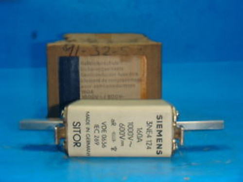 NEW  3 SIEMENS 3NE4 124, 160A, 1000VAC 600VDC SITOR FUSE NEW IN BOX