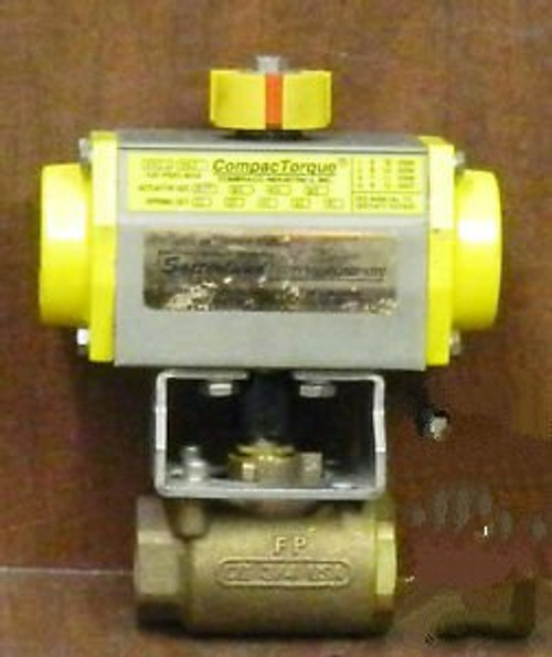 1 NEW COMPAC TORQUE ACTUATOR 20 W/ 3/4 BALL VALVE NNB