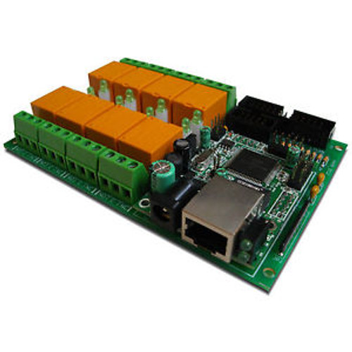 SNMP and Web Eight Relay Module Board for Temperature Measurement LM35DZ