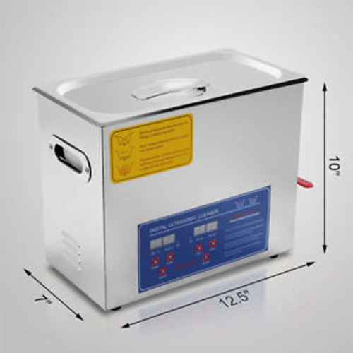 Hot Stainless Steel 6 L Liter Industry Heated Ultrasonic Cleaner Heater w/Timer